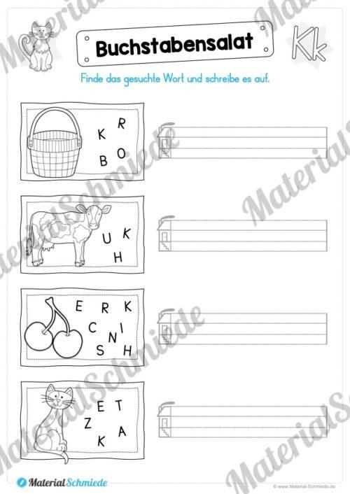 Materialpaket: Buchstabe K/k schreiben lernen (Vorschau 08)
