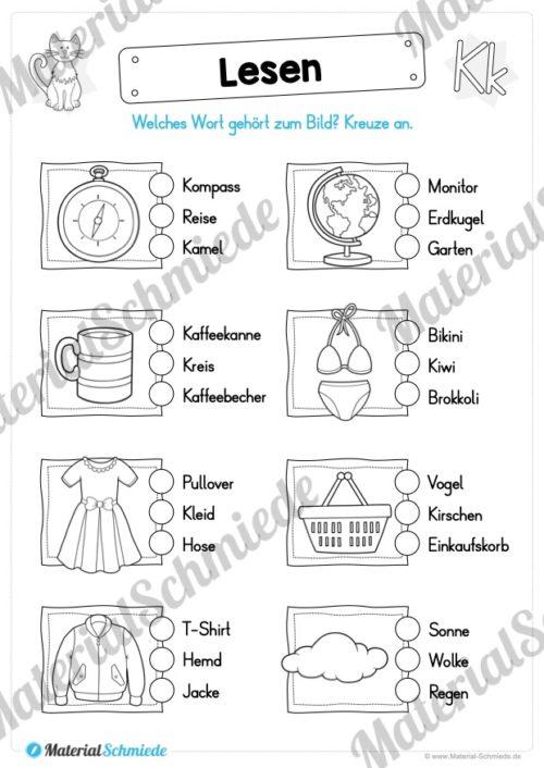 Materialpaket: Buchstabe K/k schreiben lernen (Vorschau 10)