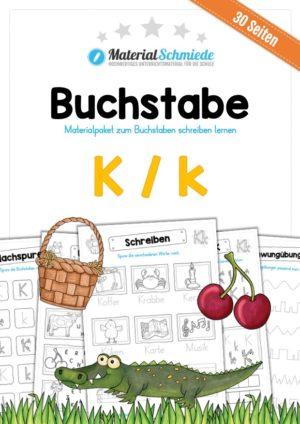 Materialpaket: Buchstabe K/k schreiben lernen