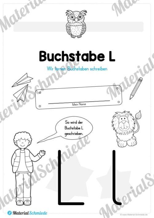Materialpaket: Buchstabe L/l schreiben lernen (Vorschau 01)