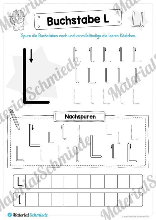 Materialpaket: Buchstabe L/l schreiben lernen (Vorschau 04)