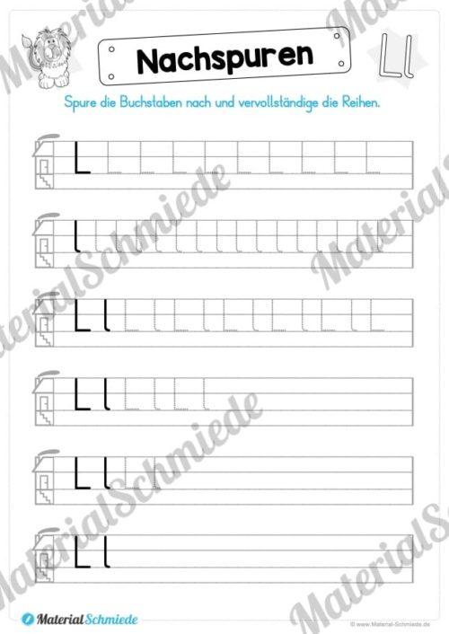 Materialpaket: Buchstabe L/l schreiben lernen (Vorschau 05)