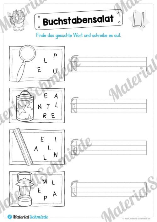 Materialpaket: Buchstabe L/l schreiben lernen (Vorschau 07)