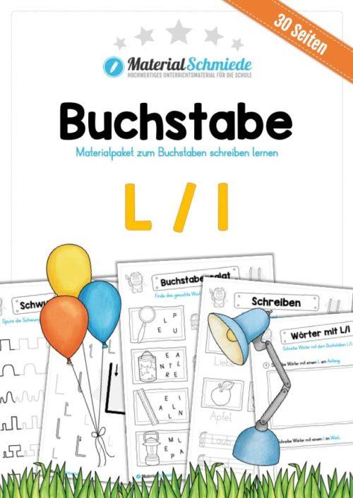 Materialpaket: Buchstabe L/l schreiben lernen