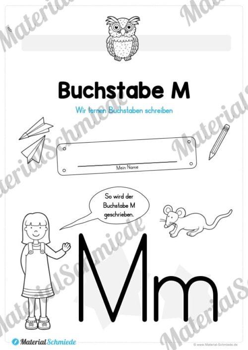 Materialpaket: Buchstabe M/m schreiben lernen (Vorschau 01)