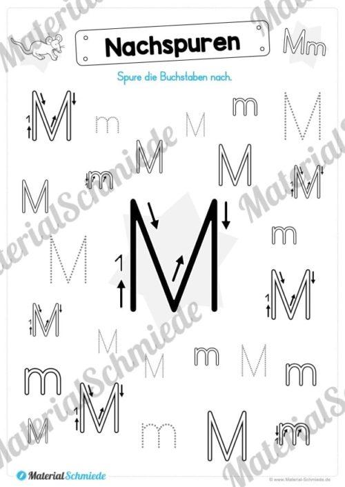 Materialpaket: Buchstabe M/m schreiben lernen (Vorschau 04)