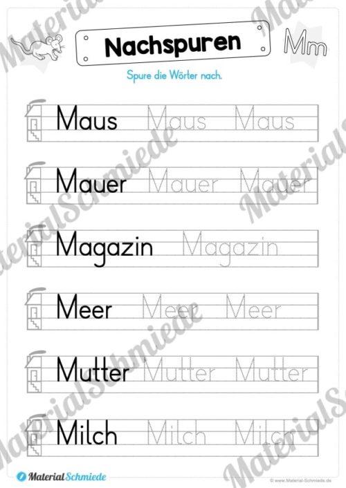 Materialpaket: Buchstabe M/m schreiben lernen (Vorschau 06)