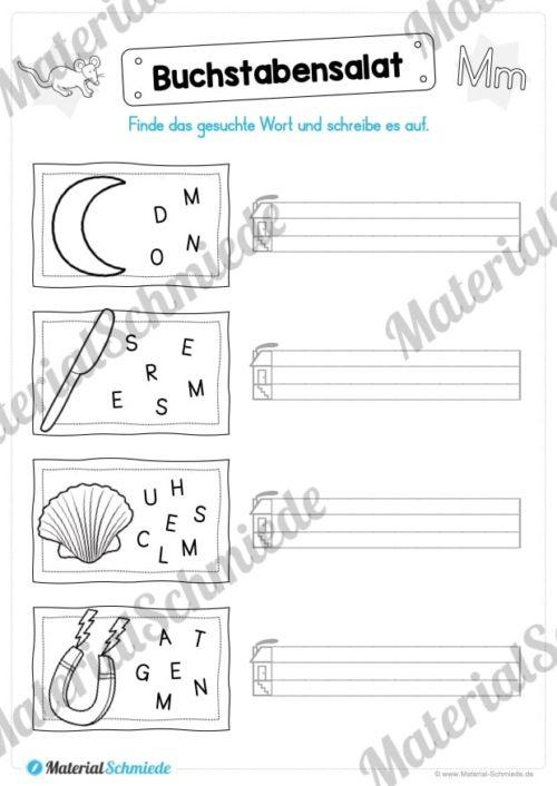 Materialpaket: Buchstabe M/m schreiben lernen (Vorschau 07)