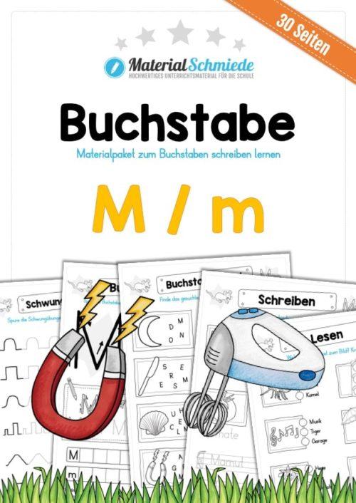 Materialpaket: Buchstabe M/m schreiben lernen
