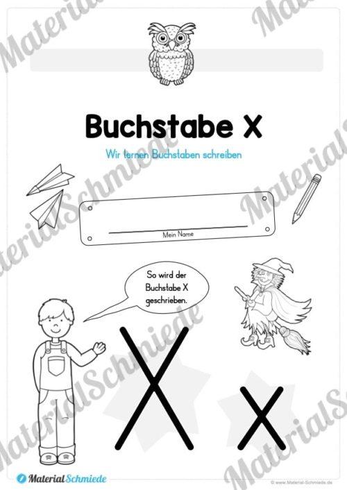 Materialpaket: Buchstabe X/x schreiben lernen (Vorschau 01)
