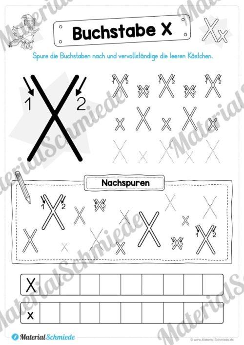 Materialpaket: Buchstabe X/x schreiben lernen (Vorschau 04)