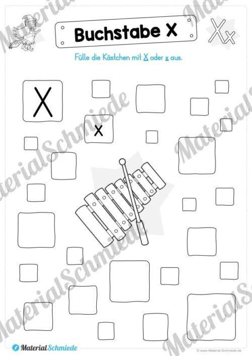 Materialpaket: Buchstabe X/x schreiben lernen (Vorschau 06)