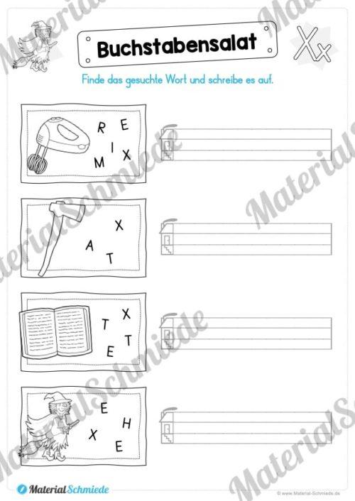 Materialpaket: Buchstabe X/x schreiben lernen (Vorschau 07)