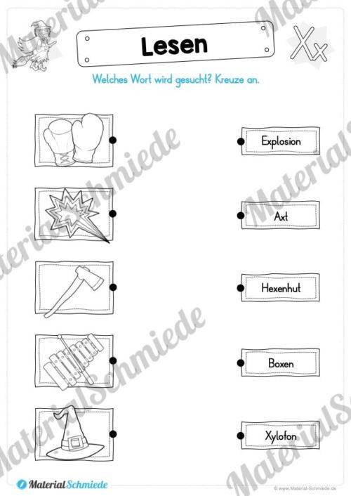 Materialpaket: Buchstabe X/x schreiben lernen (Vorschau 09)