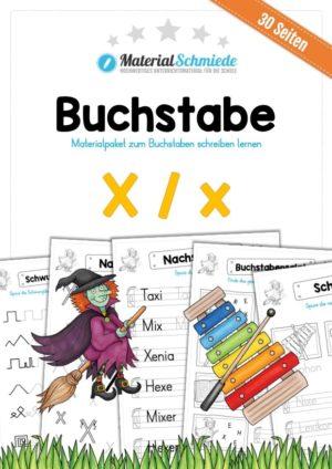 Materialpaket: Buchstabe X/x schreiben lernen