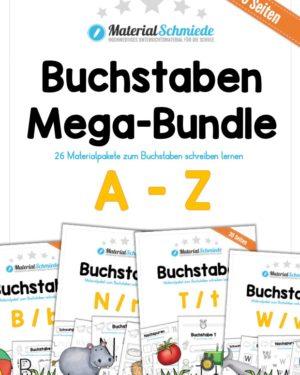 Buchstaben A-Z Mega-Bundle (780 Arbeitsblätter)