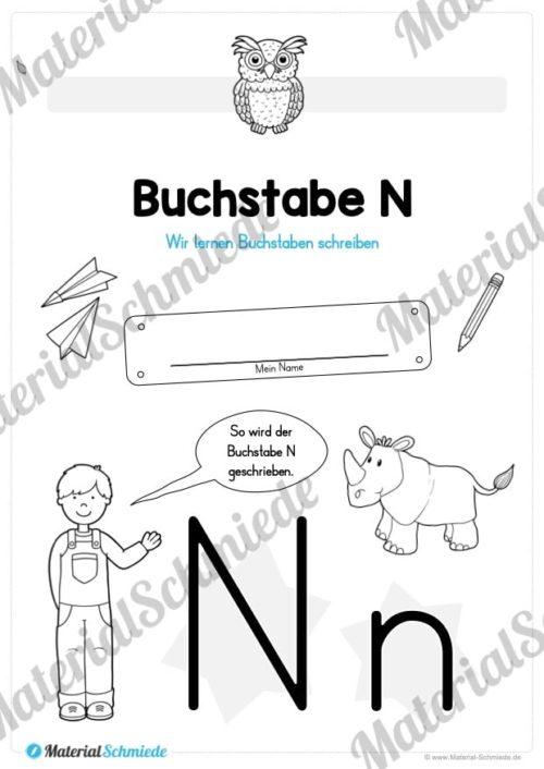 Materialpaket: Buchstabe N/n schreiben lernen (Vorschau 01)