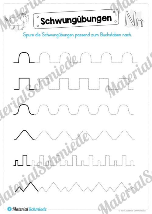 Materialpaket: Buchstabe N/n schreiben lernen (Vorschau 02)