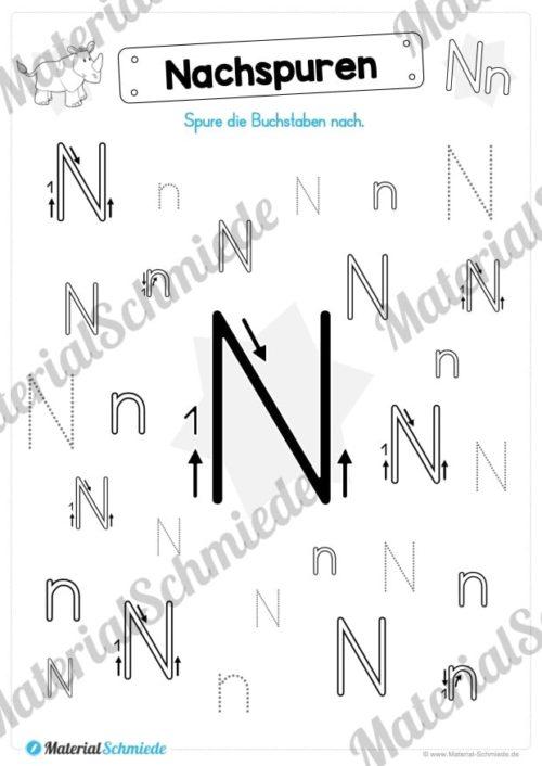Materialpaket: Buchstabe N/n schreiben lernen (Vorschau 04)