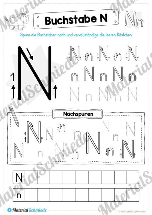 Materialpaket: Buchstabe N/n schreiben lernen (Vorschau 05)