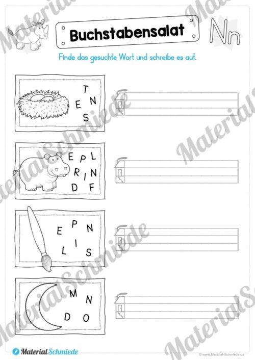 Materialpaket: Buchstabe N/n schreiben lernen (Vorschau 07)