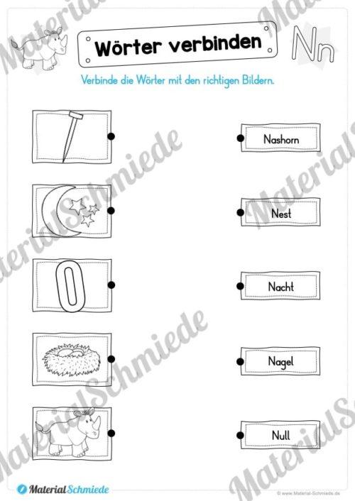 Materialpaket: Buchstabe N/n schreiben lernen (Vorschau 09)