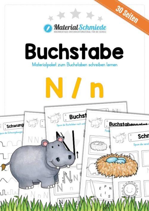 Materialpaket: Buchstabe N/n schreiben lernen