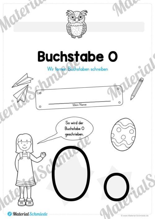 Materialpaket: Buchstabe O/o schreiben lernen (Vorschau 01)