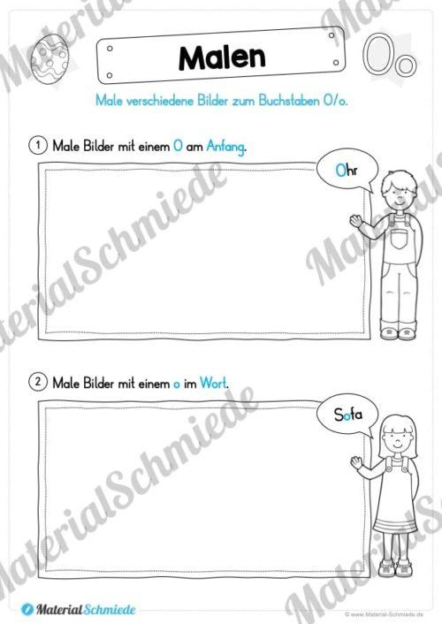 Materialpaket: Buchstabe O/o schreiben lernen (Vorschau 05)