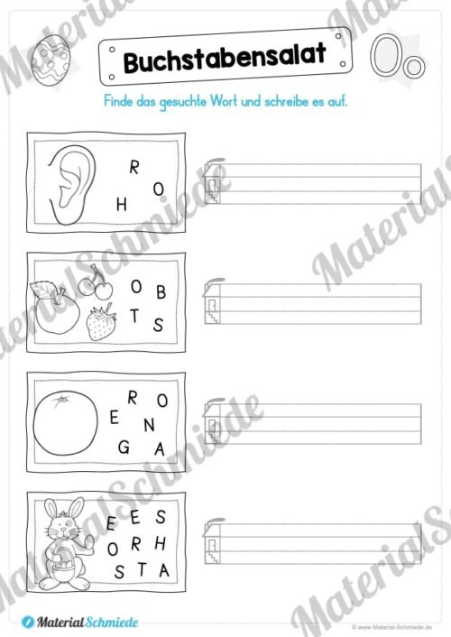 Materialpaket: Buchstabe O/o schreiben lernen (Vorschau 06)