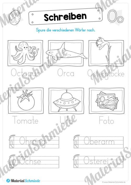 Materialpaket: Buchstabe O/o schreiben lernen (Vorschau 07)