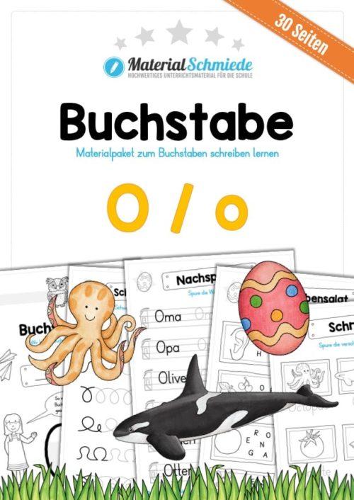 Materialpaket: Buchstabe O/o schreiben lernen