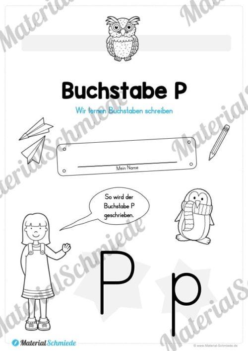 Materialpaket: Buchstabe P/p schreiben lernen (Vorschau 01)