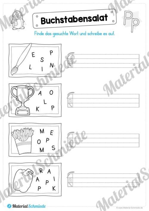 Materialpaket: Buchstabe P/p schreiben lernen (Vorschau 07)