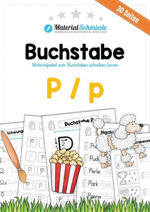 Materialpaket: Buchstabe P/p schreiben lernen