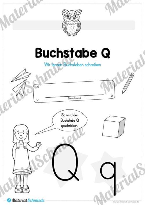 Materialpaket: Buchstabe Q/q schreiben lernen (Vorschau 01)