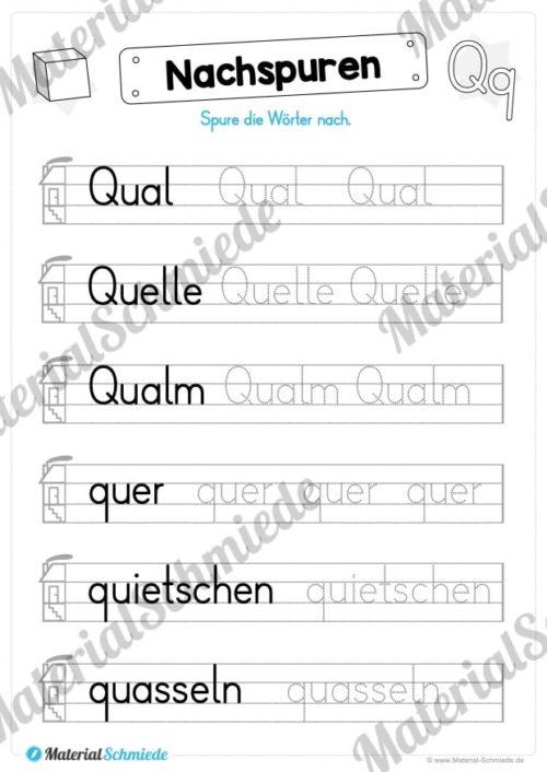 Materialpaket: Buchstabe Q/q schreiben lernen (Vorschau 04)