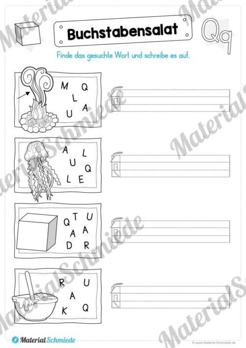 Materialpaket: Buchstabe Q/q schreiben lernen (Vorschau 05)