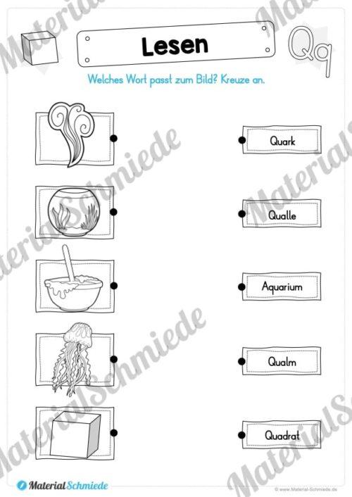 Materialpaket: Buchstabe Q/q schreiben lernen (Vorschau 07)