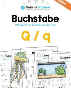 Materialpaket: Buchstabe Q/q schreiben lernen