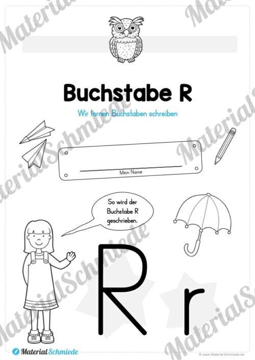 Materialpaket: Buchstabe R/r schreiben lernen (Vorschau 01)