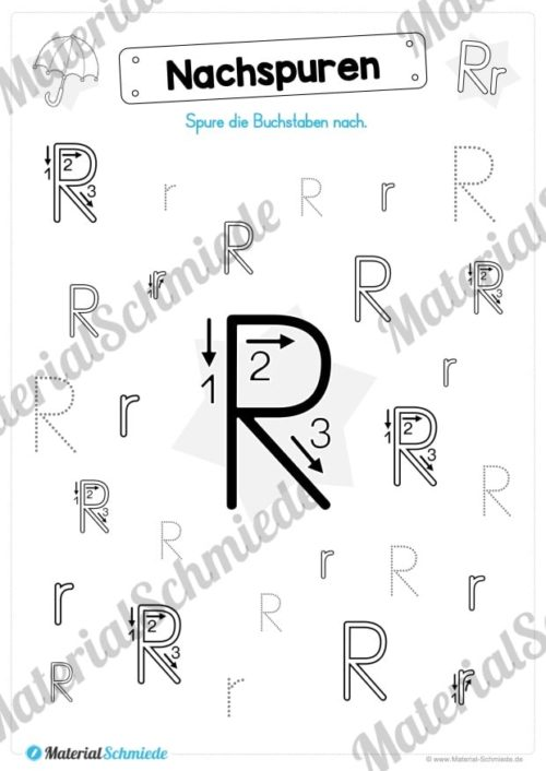Materialpaket: Buchstabe R/r schreiben lernen (Vorschau 04)