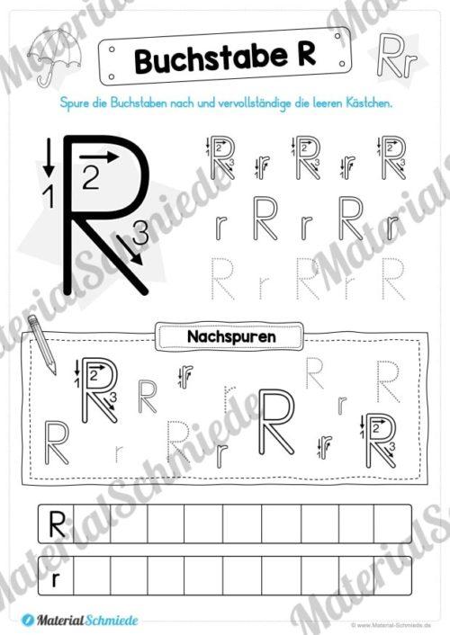 Materialpaket: Buchstabe R/r schreiben lernen (Vorschau 05)