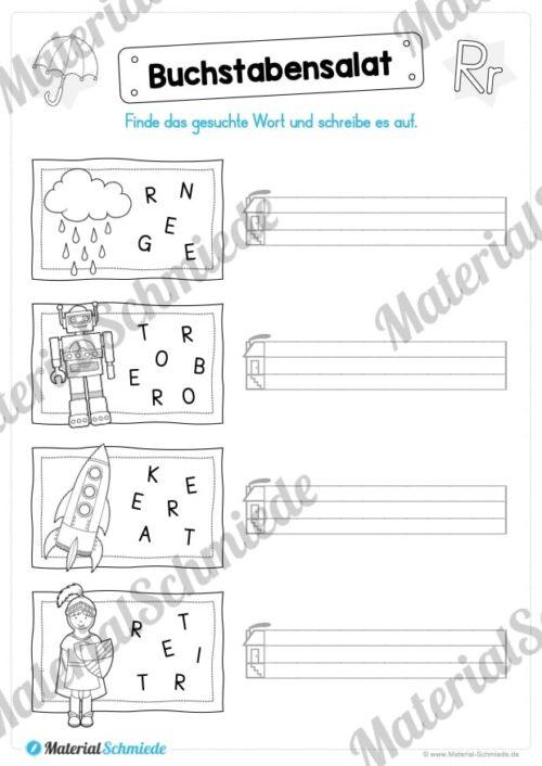 Materialpaket: Buchstabe R/r schreiben lernen (Vorschau 06)