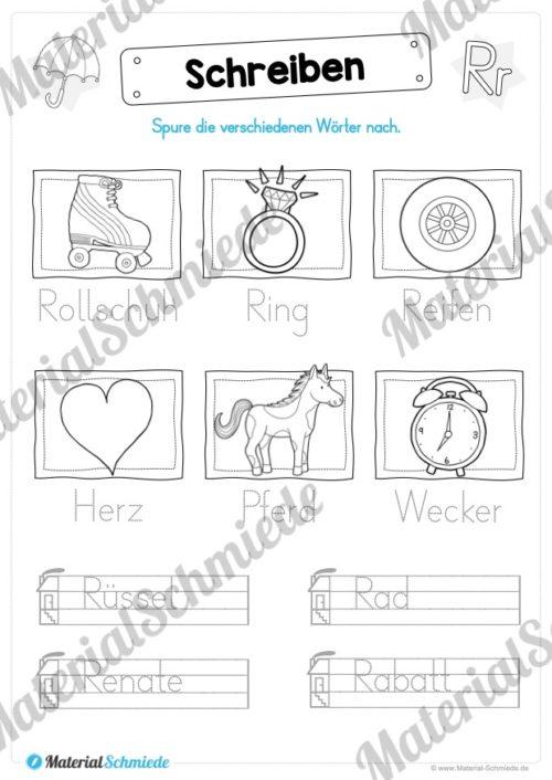 Materialpaket: Buchstabe R/r schreiben lernen (Vorschau 07)