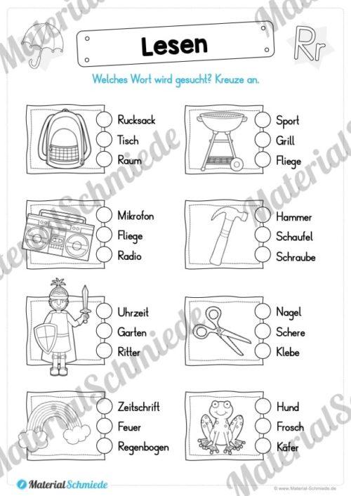 Materialpaket: Buchstabe R/r schreiben lernen (Vorschau 08)