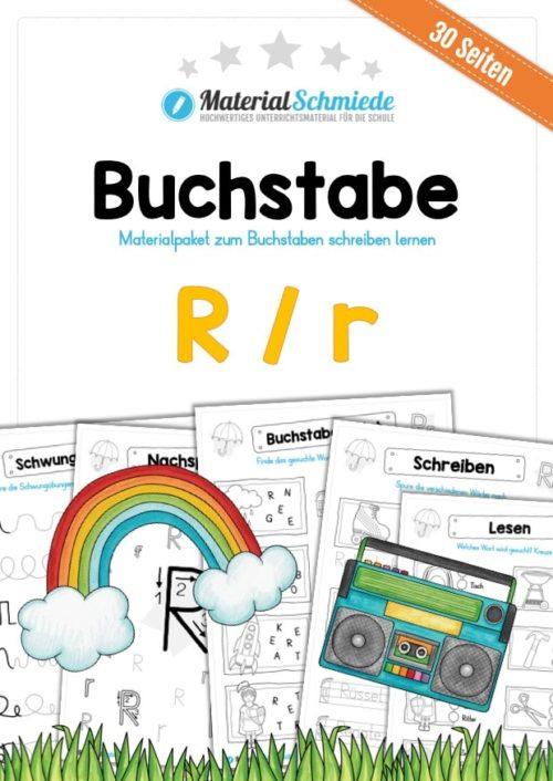 Materialpaket: Buchstabe R/r schreiben lernen