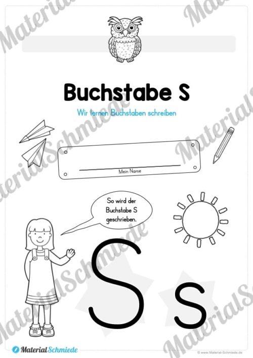Materialpaket: Buchstabe S/s schreiben lernen (Vorschau 01)