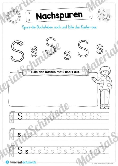 Materialpaket: Buchstabe S/s schreiben lernen (Vorschau 05)
