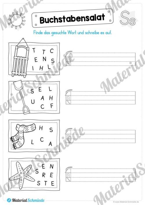 Materialpaket: Buchstabe S/s schreiben lernen (Vorschau 07)